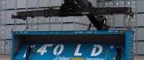 Continúan las pruebas del 4FOLD, contenedor plegable de 40 pies