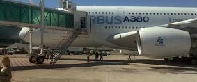 El Airbus A380 aterrizó en Ezeiza