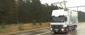 Autopistas eléctricas para transporte de cargas en camión