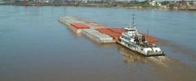 Podrán navegar trenes de barcazas de 290 metros con 24.000 toneladas