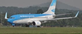 Aerolíneas Argentinas presentó nuevo Boeing 737-800 NG