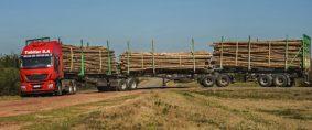 Camiones Tritrenes a prueba en Uruguay