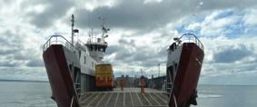 Conexión marítima con Tierra del Fuego, cruce corto o cruce largo