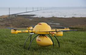 Drone DHL en tierra