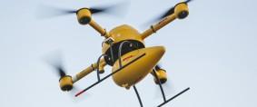 DHL inicia  servicio de mensajería con drones