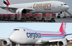 Emirates SkyCargo y Cargolux juntos en transporte de carga aérea