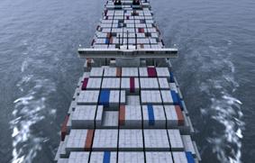 el transporte de contenedores