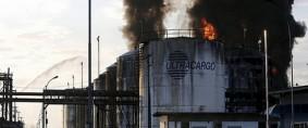 Santos: Incendio en depósito de combustibles