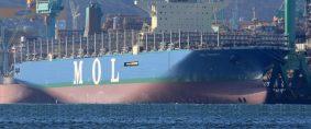 El mayor fullcontainer del mundo sale de los astilleros
