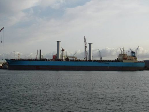 Velas rotor en un petrolero de Maersk
