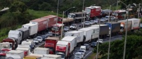 Paro de camioneros en Brasil