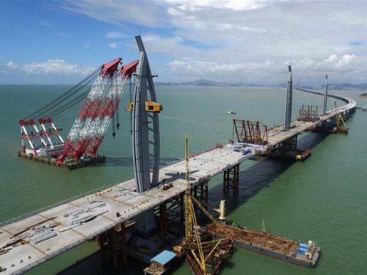Avanza el puente marítimo más largo del mundo