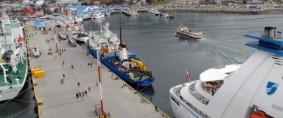 Puerto de Ushuaia paralizado, sin carga ni buques
