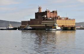 central nuclear flotante