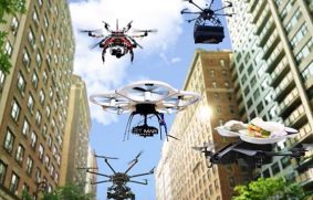 Helicóptero drone probado por empresa logística china