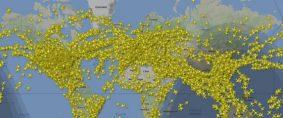 Récord de aviones volando en el mismo momento