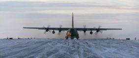 Intrépida evacuación aérea en la Antártida