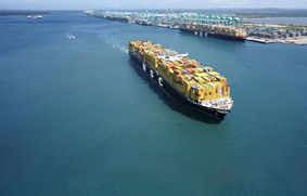 fullcontainers de 22.000 Teus