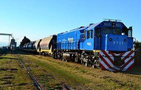 carga transportada por ferrocarril