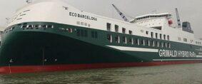 Grimaldi suma un nuevo buque híbrido. El Eco Barcelona