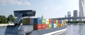 Tesla y el transporte fluvial de contenedores