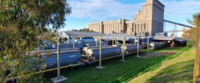 Cargas por ferrocarril en el puerto de Bahía Blanca